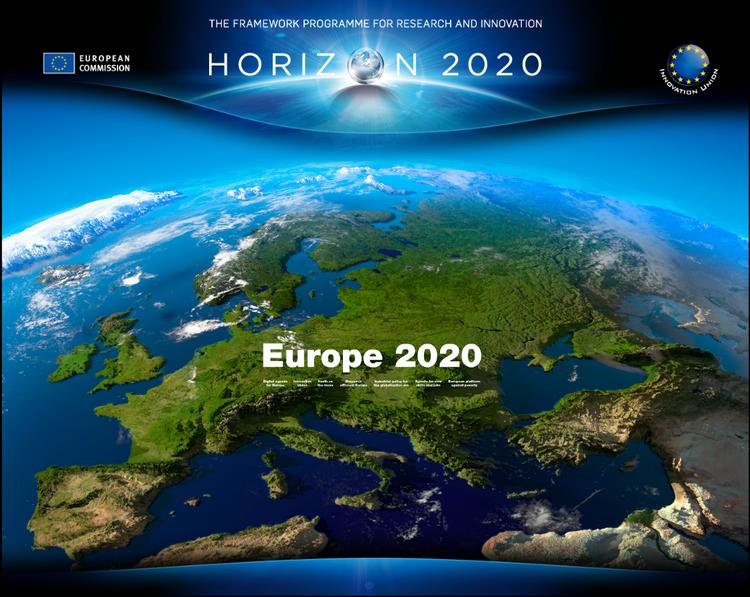 Cartel de Horizonte 2020: Europa 2020