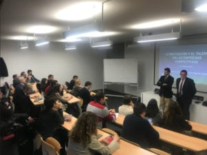 Presentación de la Masterclass de innovación impartida por J. Banqueri