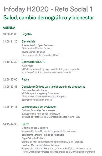 Infoday Horizonte 2020 PTS Granada